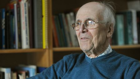Lord Norman Tebbit is pictured at his home in Bury talking with Liz Nice.