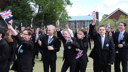 Excited Castle Manor Academy students. Picture: GOODERHAM PR