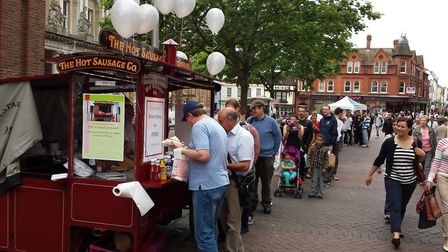 The Hot Sausage Company can be found on the Corn Hill next to Barclays bank. Picture: MATT STOTT