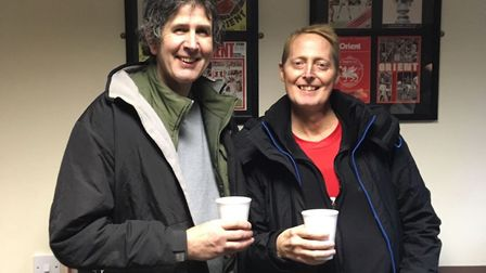 David Tofts (right) with friend Mike Kelly. Picture: CONTRIBUTED