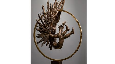 Icarus by Kate Denton, part of the Burning Ambition exhibition. Photo: Bob Foyers