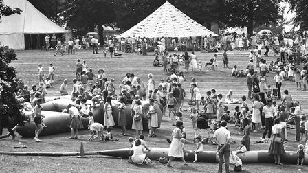 The event attracted hundreds of people to Chantry Park in 1984. Picture: RICHARD SNASDELL