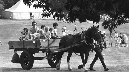 Horse and cart rides were on offer around the park. Picture: RICHARD SNASDELL