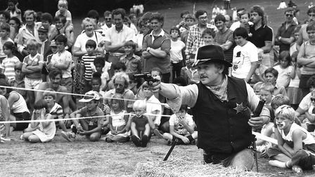 An old Western shootout reennactment featured at the Play Day in 1984. Picture: RICHARD SNASDELL