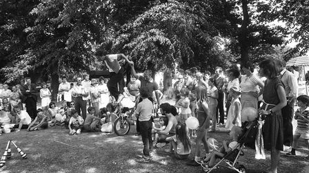 Plenty of activites were on offer at the Great Ipswich Play Day at Chantry Park in 1984. Picture: RI