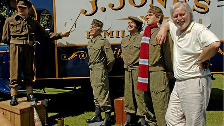 Ian Lavender meets his character Pike and fellow Dad's Army members, when he visited Bressingham Ste