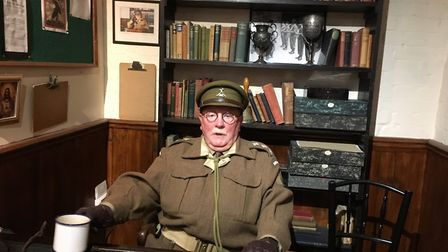 """""""Captain Mainwaring"""" (Mick Whitman) on duty at the Dads Army Museum in Thetford. Picture: PAUL GEATE"""