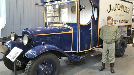 L Cpl Jones' van in the Burrell Museum at Thetford - part of the town's Dad's Army collection. Pictu
