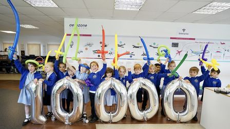 Thousands of school pupils visitors to Aerozone education centre Some of the children from R A