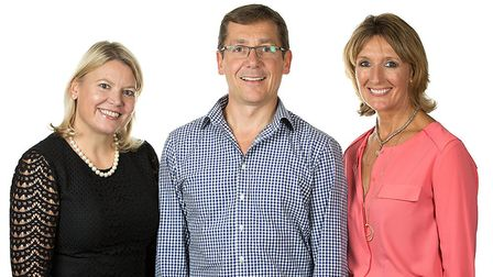 Pure's Executive team: Gill Buchanan, Ian Walters and Lynn Walters. Picture: PURE
