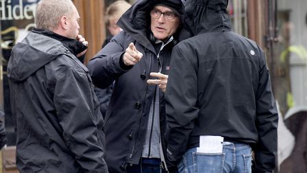 Director Danny Boyle working on set. Picture: NICK BUTCHER