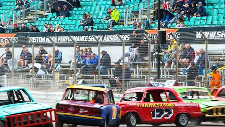 Historic Stock Cars action, set for Foxhall this weekend Photo: STEVE WALLER