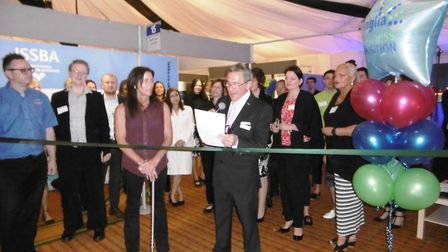 The opening of the Anglia Business Exhibition, organised by ISSSBA at the Best Western, Ipswich hote