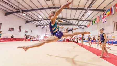 Aniya Barrado training on the floor at Pipers Vale. Picture: PAVEL KRICKA