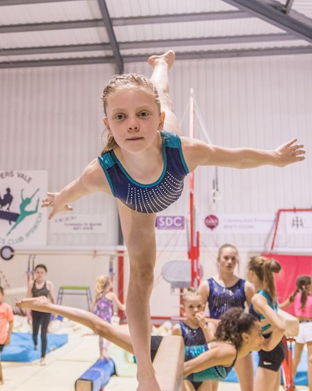 Young gymnast Grace Wardley in action at Pipers Vale. Picture: PAVEL KRICKA