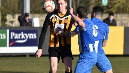 Josh Mayhew has signed a new two-year deal at Stowmarket Town. Picture: DAVID WALKER