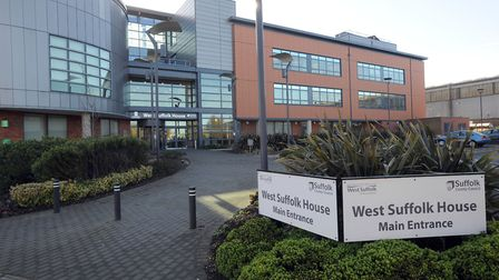 The first joint cabinet committee will be held at West Suffolk House in Bury. Picture: PHIL MORLEY