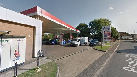 The Esso garage in Combs Ford where the ticket is thought to have been bought Picture: GOOGLE MAPS
