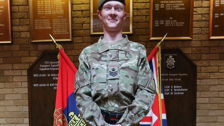 Cadet Staff Sgt Jack Larder, of Ixworth Detachment, is off to South Africa. Picture: SGT JOHN TILLOT