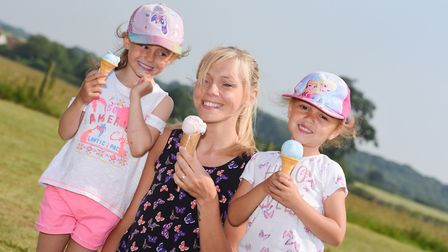 Celebrations at the Suffolk Food Hall at last year's Suffolk Day. L-R Maddie Ross,Kirsty Button and