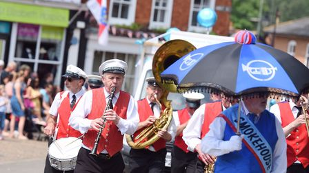 Crowds lined the streets for last year's Framlingham Gala parade, which was led by The Smokehouse B