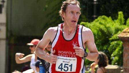 Michael Eccles who finished second in the Woodbridge 10k, on 20 May 2018. Picture: Steve Waller