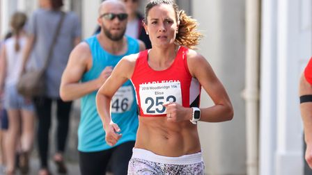 Elisa Bostock, the first female home in the Woodbridge 10k, on 20 May 2018. Picture: Steve Waller
