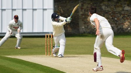 Sam Webb-Snowling, who made a brisk 47 in Copdock & OI's defeat to Swardeston. Picture: GREGG BROWN