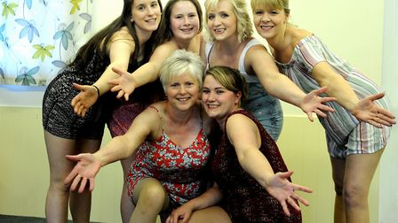 The Barton Players present South Pacific at Great Barton Village Hall. The Nurses Back Row – A