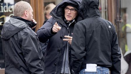 Director Danny Boyle working on set Picture: NICK BUTCHER