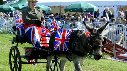 Crowds enjoy a hot and sunny day at the 179th Hadleigh Show on Saturday. Royal Wedding flags deco