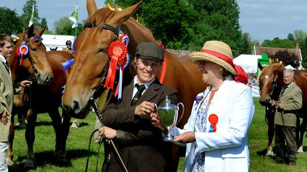 Crowds enjoy a hot and sunny day at the 179th Hadleigh Show on Saturday. Hon Show President Emily