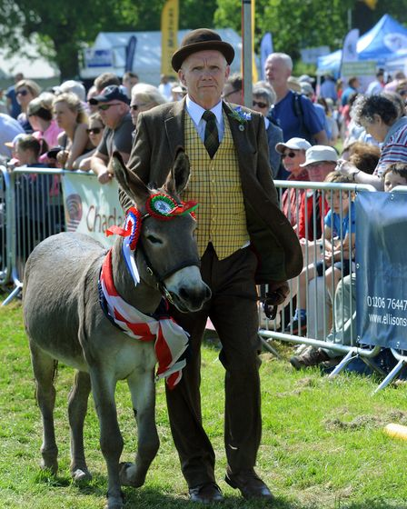 Crowds enjoy a hot and sunny day at the 179th Hadleigh Show on Saturday. The Grand Parade PICT