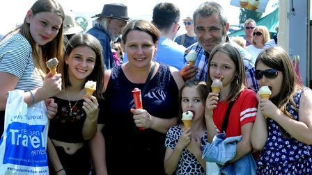 Crowds enjoy a hot and sunny day at the 179th Hadleigh Show on Saturday. The Donnelly family from