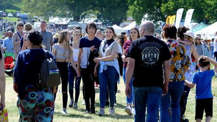 Crowds enjoy a hot and sunny day at the 179th Hadleigh Show on Saturday. PICTURE: Andy Abbott