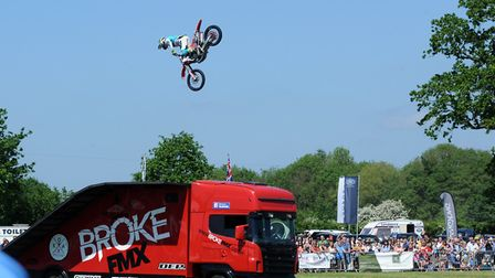 Crowds enjoy a hot and sunny day at the 179th Hadleigh Show on Saturday. The Broke FMX freestyle