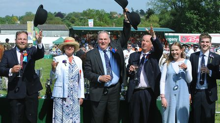 Crowds enjoy a hot and sunny day at the 179th Hadleigh Show on Saturday. Honorary President Emily