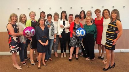 17 nurses from all over England, Ireland and the USA returned to Ipswich Picture: EVELYN LOBLEY