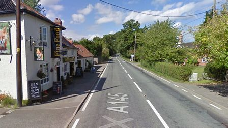 The crash is understood to have happened near The Fox Inn pub Picture: GOOGLE IMAGES