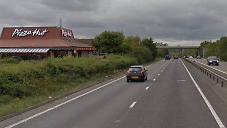 An accident involving a motorbike and cement mixer took place on the A120. Picture: GOOGLE MAPS