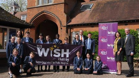 Pupils and staff at Culford School supporting the My WiSH Charity's World War 1 Trail Picture: CULFO