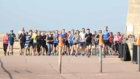The start of the 77th Clacton Seafront parkrun on Saturday. Picture: PETE INMAN