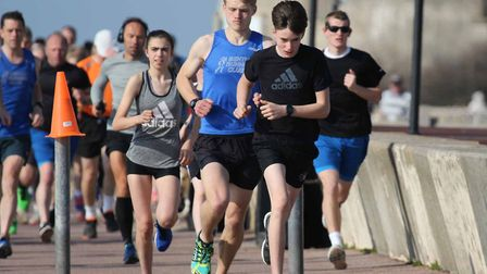 The early leaders in Saturday's Clacton Seafront parkrun, which attracted a good field of 112. Pictu