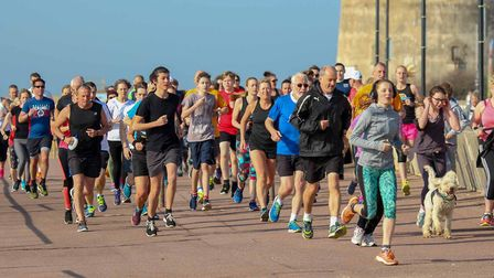 Runners, joggers and walkers were treated to beautiful weather at Saturday's Clacton Seafront parkru