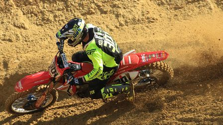 Shaun Southgate, on his way to victory in the British MX1 Expert Class. Photos: RICK BLYTH