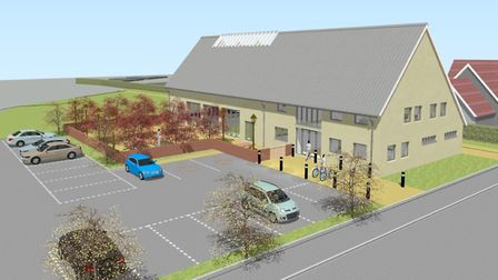 A computer image of the recent community centre proposals for Brook Lane. Picture: HOLLINS