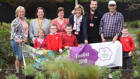 The new flower bed in the school grounds of Tollgate Primary School. Picture: GREGG BROWN