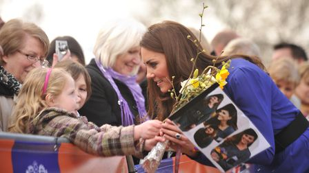 The Duchess of Cambridge pictured at the The Treehouse in Ipswich in 2012. Picture: SARAH LUCY BROWN