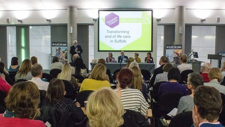 St Elizabeth Hospice's transforming end-of-life care event at University of Suffolk in Ipswich. Pict