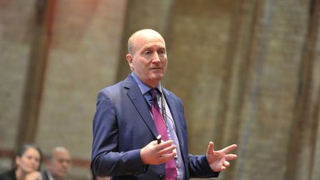 Nick Hulme, chief executive of Ipswich and Colchester hospitals. Picture: SARAH LUCY BROWN